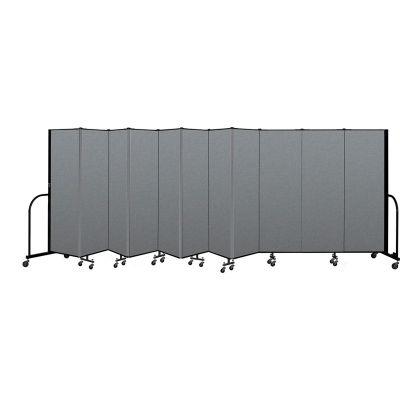 "Screenflex Portable Room Divider 11 Panel, 6'H x 20'5""L, Fabric Color: Gray"