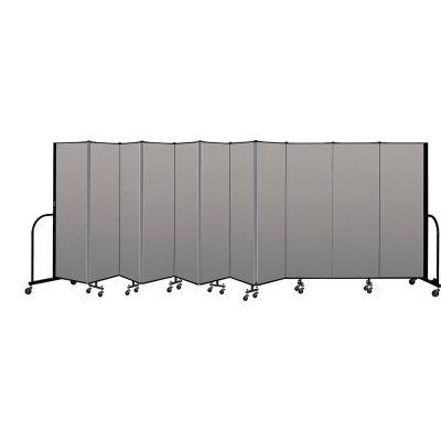 """Screenflex Portable Room Divider 11 Panel, 6'H x 20'5""""L, Vinyl Color: Gray"""