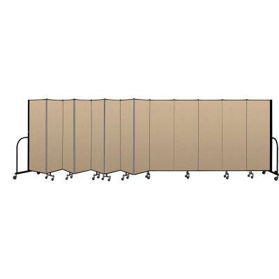 """Screenflex Portable Room Divider 13 Panel, 6'H x 24'1""""L, Vinyl Color: Oatmeal"""