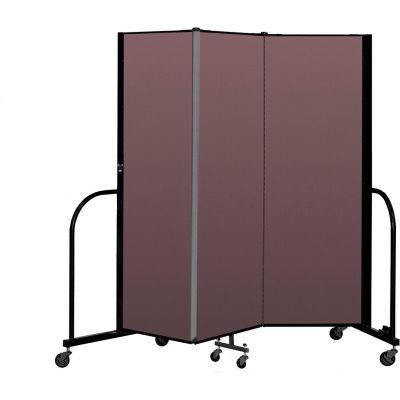 """Screenflex Portable Room Divider 3 Panel, 6'H x 5'9""""L, Fabric Color: Mauve"""