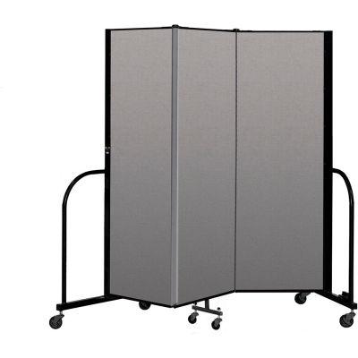 """Screenflex Portable Room Divider 3 Panel, 6'H x 5'9""""L, Vinyl Color: Tan"""