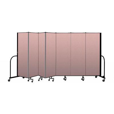 """Screenflex Portable Room Divider 7 Panel, 6'H x 13'1""""L, Vinyl Color: Mauve"""