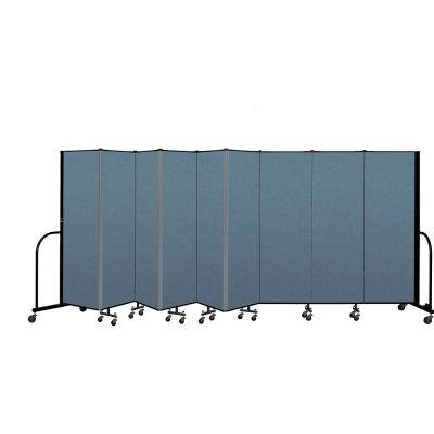 "Screenflex Portable Room Divider 9 Panel, 6'H x 16'9""L, Fabric Color: Blue"