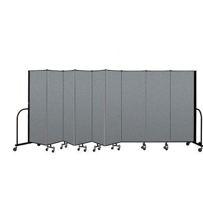"Screenflex Portable Room Divider 9 Panel, 6'H x 16'9""L, Fabric Color: Gray"