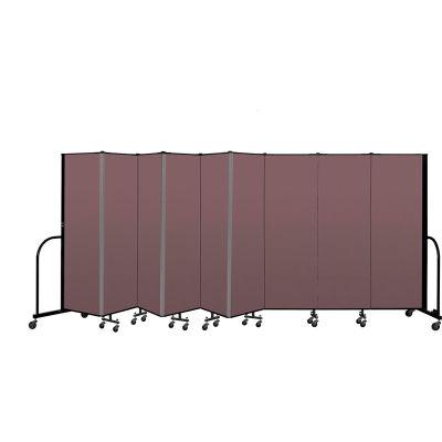 """Screenflex Portable Room Divider 9 Panel, 6'H x 16'9""""L, Fabric Color: Mauve"""