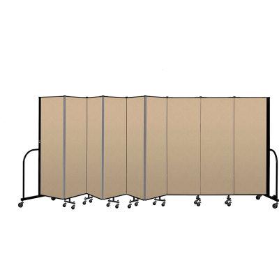 """Screenflex Portable Room Divider 9 Panel, 6'H x 16'9""""L, Vinyl Color: Oatmeal"""