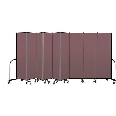 """Screenflex Portable Room Divider 9 Panel, 6'8""""H x 16'9""""L, Fabric Color: Mauve"""