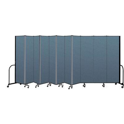 "Screenflex Portable Room Divider 11 Panel, 7'4""H x 20'5""L, Fabric Color: Blue"