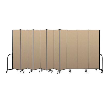 """Screenflex Portable Room Divider 11 Panel, 8'H x 20'5""""L, Vinyl Color: Oatmeal"""