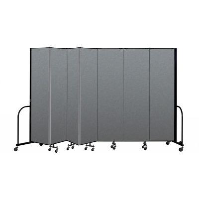 "Screenflex Portable Room Divider 7 Panel, 7'4""H x 13'1""L, Fabric Color: Gray"