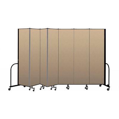"""Screenflex Portable Room Divider 7 Panel, 7'4""""H x 13'1""""L, Vinyl Color: Oatmeal"""