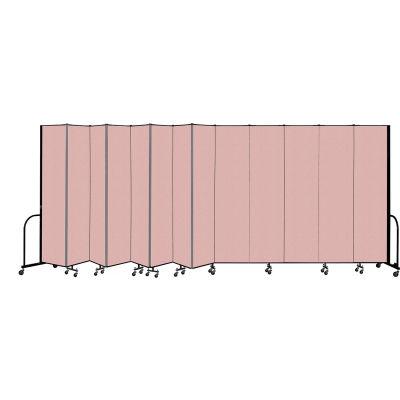"""Screenflex Portable Room Divider 13 Panel, 8'H x 24'1""""L, Vinyl Color:Mauve"""
