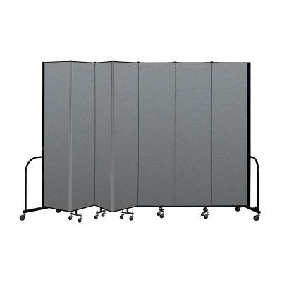 "Screenflex Portable Room Divider 7 Panel, 8'H x 13'1""L, Fabric Color: Gray"