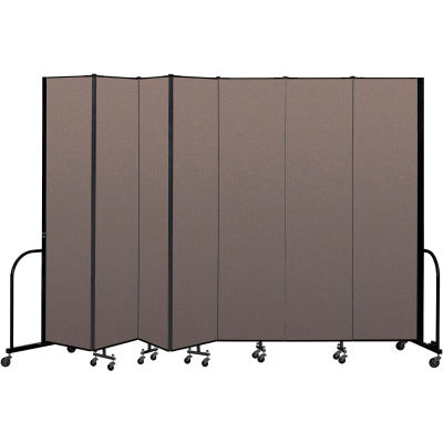 "Screenflex Portable Room Divider 7 Panel, 8'H x 13'1""L, Fabric Color: Oatmeal"