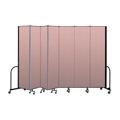 """Screenflex Portable Room Divider 7 Panel, 8'H x 13'1""""L, Vinyl Color: Mauve"""