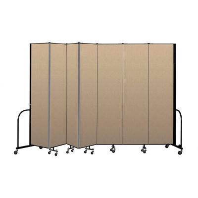 """Screenflex Portable Room Divider 7 Panel, 8'H x 13'1""""L, Vinyl Color: Oatmeal"""