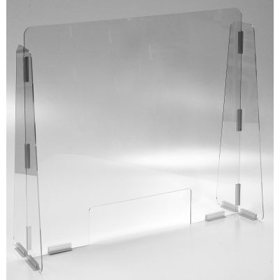 "Cashier Guard, Polycarbonate 31""W x 28""H"