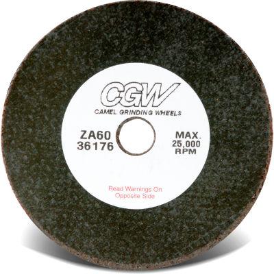 "CGW Abrasives 36174 Cutoff Wheels 3"" x 1/16"" x 3/8"" for Die Grinder / Mandrel 36 Grit Zirconia - Pkg Qty 50"