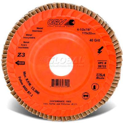 "CGW Abrasives 39742 Abrasive Flap Disc 5"" x 7/8"" 40 Grit Zirconia - Pkg Qty 10"