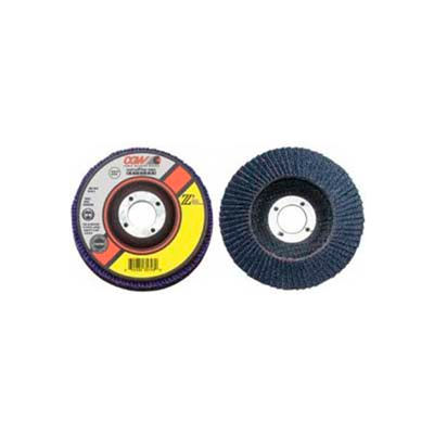 "CGW Abrasives 42114 Abrasive Flap Disc 4"" x 3/8 - 24"" 60 Grit Zirconia - Pkg Qty 10"