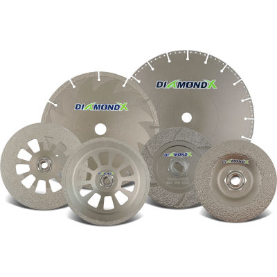 """CGW Abrasives 70413 Notching Grinding Wheel 5"""" x 0.14"""" x 7/8"""" Type 1 36 Grit Diamond"""