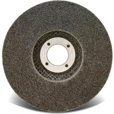 "CGW Abrasives 72081 Unitzed Economy Fiberglass Disc 4-1/2"" x 5/8-11"" Very Fine Silicon Carbide - Pkg Qty 10"