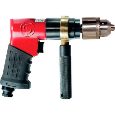 "Chicago Pneumatic CP9789C, 1/2"" Pistol Air Drill, 0.37 HP, 800 RPM, 6 CFM, Reversible, 90 PSI"