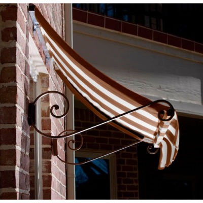 Awntech ECH1836-6BRNT Window/Entry Awning 6-3/8'W x 1-1/2'H x 3'D Brown/Tan