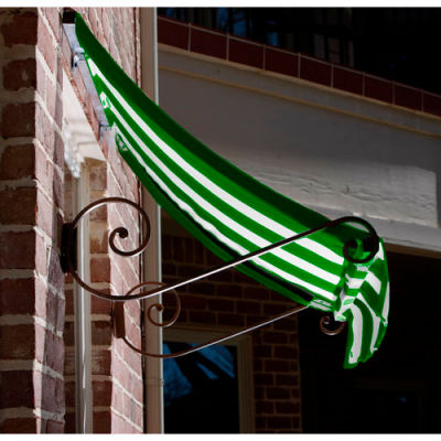 Awntech CH21-3FW Window/Entry Awning 3-3/8'W x 2'H x 1'D Forest Green/White