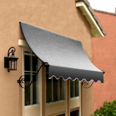 Awntech CH21-8G, Window/Entry Awning 8-3/8'W x 2'H x 1'D Gray