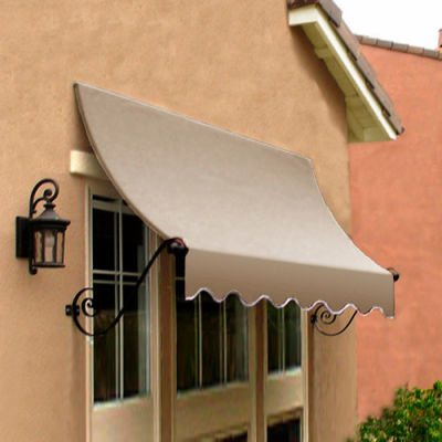 Awntech CH21-3L Window/Entry Awning 3-3/8'W x 2'H x 1'D Linen