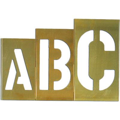 """10"""" Brass Interlocking Stencil Gothic Style Letters, 33 Piece Kit"""