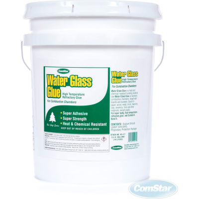 Water Glass Glue™ High Temperature Chamber Glue-Water Glass, 5 Gal.