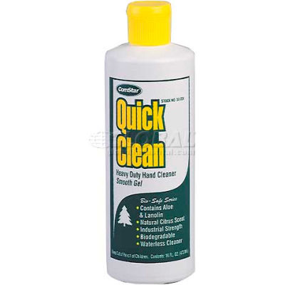 Quick Clean™ Hd Waterless Lotion Hand Soap, w/ Or w/out  Pumice , 16 Oz. W/Pumice - Pkg Qty 12
