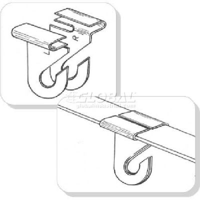 "Aluminum Ceiling Right Hook, 1-1/4""L, White - Pkg Qty 100"