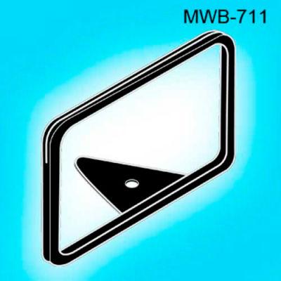 "Metal Sign Frame W/Wedge Base, 1""L x 11""W, Black - Pkg Qty 25"