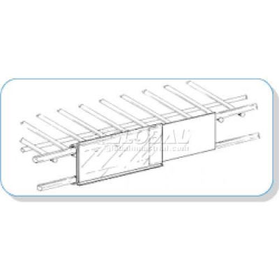 """Price Channel Label Holder, For Wire Shelves, 3""""W - Pkg Qty 100"""