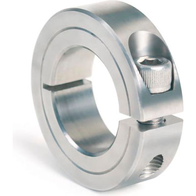 """One-Piece Clamping Collar, 1/4"""", Stainless Steel"""