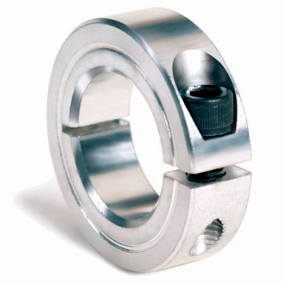 """One-Piece Clamping Collar, 1/4"""", Zinc Plated Steel"""