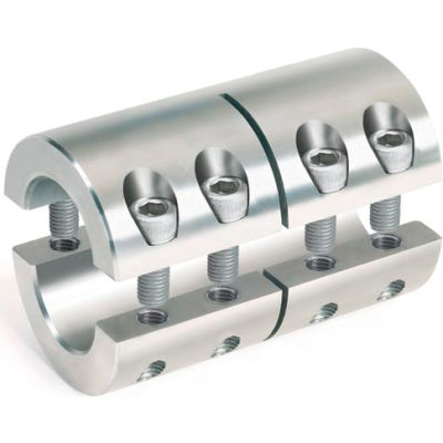 """2-Piece Industry Standard Clamping Couplings, 1/2"""", Stainless Steel"""