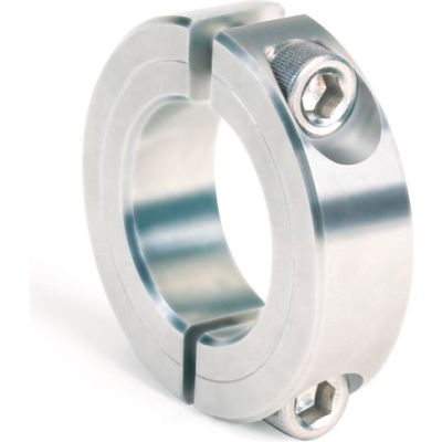 """Two-Piece Clamping Collar, 9/16"""" Bore, G2SC-056-SS"""