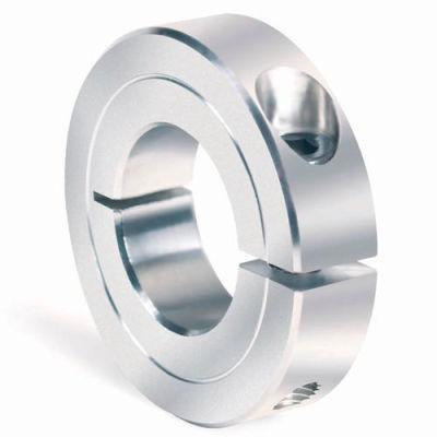 """One-Piece Clamping Collar Recessed Screw, 7/16"""", Aluminum"""