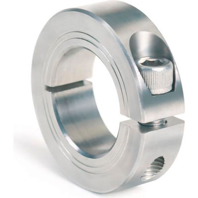 Metric One-Piece Clamping Collar, 35mm, Stainless Steel