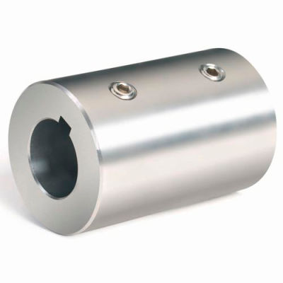 Climax Metal, Metric Set Screw Coupling W/Keyway, MRC-10-S-KW, Stainless Steel, 10mm
