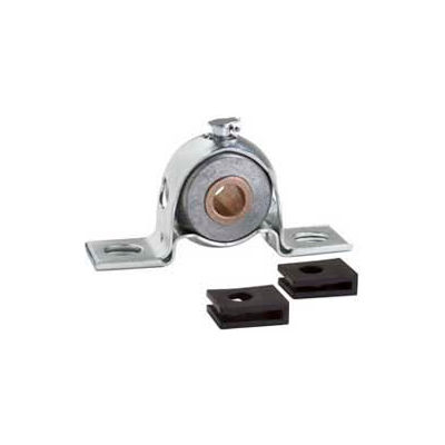 "Clesco, Pillow Block Bronze Bearing, PBPS-BR-062, Press Steel Housing, Self-Align, 5/8"" Bore"