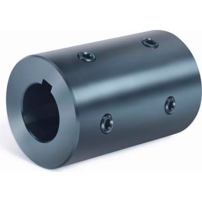 """Rigid Coupling 4 Set Screws 2 @ 90 RC4H-Series, 2"""", Black Oxide Steel"""