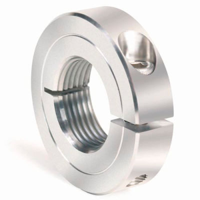 One-Piece Threaded Clamping Collar Recessed Screw, Stainless Steel, TC-125-12-S