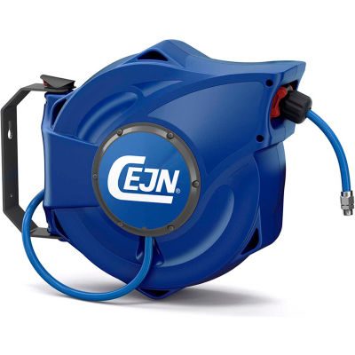 "CEJN 19-911-2023 Closed Safety Hose Reel 5/16"" PUR Hose 33' OAL 1/4"" Male NPT Safety-Brake Rewind"
