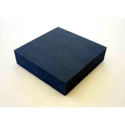 "Clark Foam Products, 1001108, Foam Sheet, 200100 Poly, Charcoal, 1/2""H x 24""W x 24""L - Pkg Qty 3"