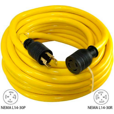 Conntek 20603, 100', 30A, Generator Power/Extension Cord with NEMA L14-30P to L14-30R